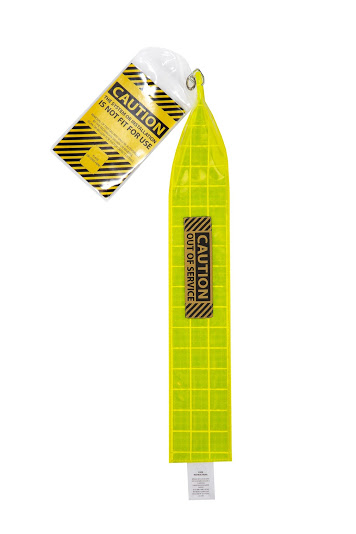 XL Lime Yellow Caution Tag
